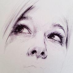 ... Julia - Ballpoint Pen drawing by HB✎