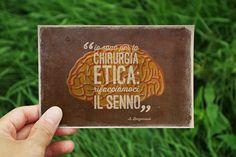 Bergonzoni quote - postcard by unaManu ., via Behance