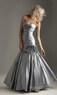 Mermaid Satin Sweetheart Long Dress Charm86042