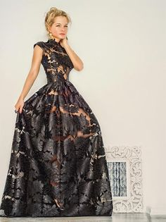 I saw this amazing dress and had to post it. Luxurious Maxi Black Lace Evening Gown by NelliUzun on Etsy.