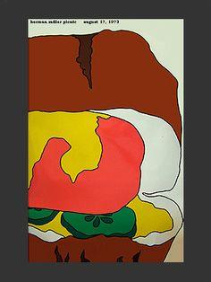 1973 Herman Miller summer picnic poster by Stephen Frykholm.