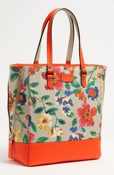 Who doesnt love florals for spring? This lovely wildflower print tote from kate spade new york grove court is a darling addition to your accessories closet this spring!