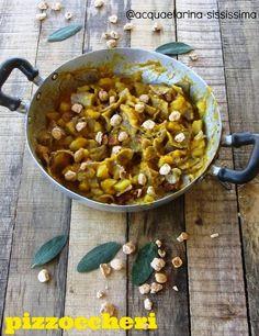 Pizzoccheri con zucca, speck e nocciole con Olio Flaminio Non filtrato by http://www.acquaefarina-sississima.com/