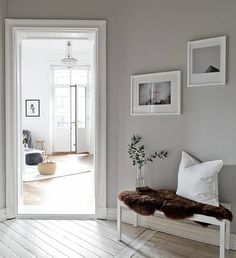Fresh and inviting home Cafe Interior, Modern Interior, Interior Design, Hallway Inspiration, Living Area, Living Room, Inviting Home, Bright Homes, Interior Paint Colors