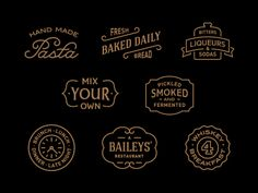 Food logo, restaurant logo, BBQ logo,Cafe logo, wine logo, bar logo inspiration