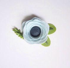 Glacier Felt Flower Headband or Hair Clip by BobanaBoutique on Etsy https://www.etsy.com/listing/462426752/glacier-felt-flower-headband-or-hair