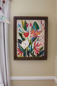 20x24 acrylic on canvas, vintage frame