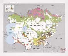 1992 Central Asia Ethnic Groups | by The Central Intelligence Agency