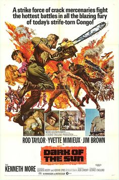 DARK OF THE SUN (1968) - Rod Taylor - Yvette Mimieux - Jim Brown - Kenneth More - Based on novel by Wilbur A. Smith - Directed by Jack Cardiff - MGM - Movie Poster.