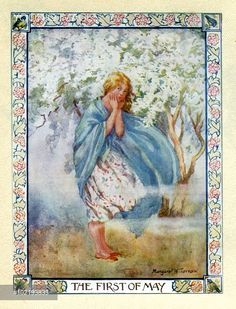 'The First of May' - Illustration from the book 'Rhymes of Old Times'