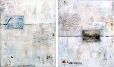 Winter song 1 & 2 : mixed media painting by Laly Mille