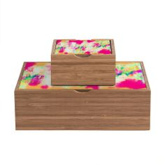Amy Sia Electric Haze Storage Box | DENY Designs Home Accessories