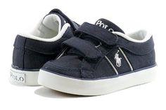 Polo Ralph Lauren Toddler Boy's Fashion Sneaker Bollingbrook EZ Canvas Shoes (6T, Navy)