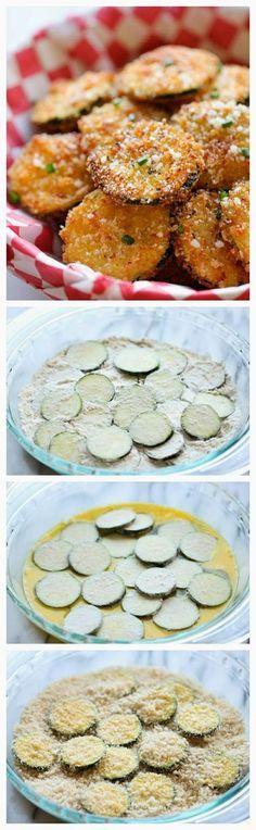 Zucchini Parmesan crisp. Yummy, healthy snack.
