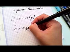 Brush calligraphy basic strokes: A recap - YouTube.  Videos for each stroke used in brush script.  Whole channel is very helpful!