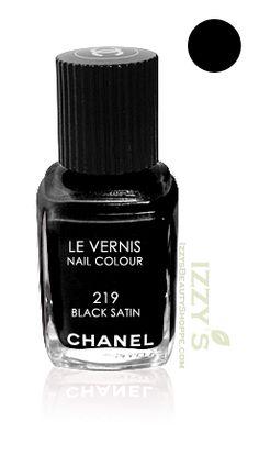 Chanel Le Vernis Nail Color Colour Polish Black Satin