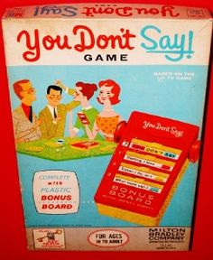 1960's TV's You Don'T Say Game  Milton Bradley Toy Company ...