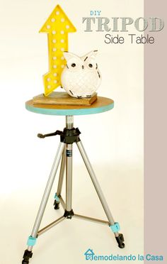 Remodelando la Casa: DIY - Tripod Side Table