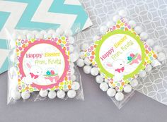 Cute Happy Easter Bunny egg hunt gift tags by TheLovelyMemories