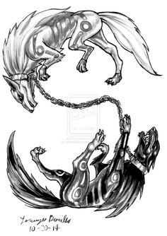 Cadejo (Undead/Beast/Shade)(Medium) – When the Barghest evolves it not only becomes bigger it also gains a spiritual white twin copy of itself. For every horrid thing the black Cadejo does, the White Cadejo does a good deed. They are yin and yang incarnate, pure neutrality and paradox combined. They are bound by a magical chain that keeps them from harming each other. (Mexican)