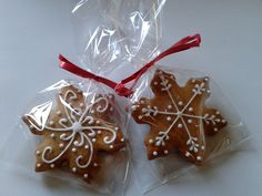 Gingerbread Snowfalke cookies