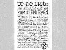 Kunstdruck TO-DO LISTE Familienleben