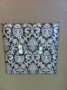Mod Podge Light Switches ~ I've done this to every one of my rooms in each house I've lived in. So easy & such a cheap way to personalize your home :)