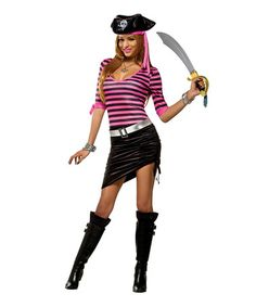 Take a look at this Pinky Pirate Costume Set - Women on zulily today!