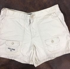 Polo Jeans Co. Ralph Lauren Size 4 Shorts Ivory Beige Logo Spell Out 100% Cotton  | eBay