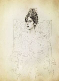 I have to quit now or this whole board will be dominated by Picasso drawings. Pablo Picasso, Portrait of Madame Patri, 1918 Pablo Picasso Drawings, Picasso Sketches, Kunst Picasso, Art Picasso, Art Drawings, Pencil Drawings, Pablo Picasso Zeichnungen, Spanish Painters, Georges Braque