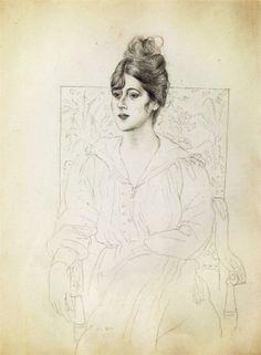 Pablo Picasso, Portrait of Madame Patri, 1918