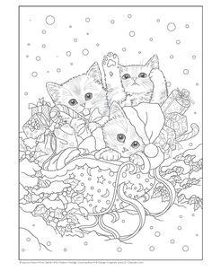 trio Xmas kitties