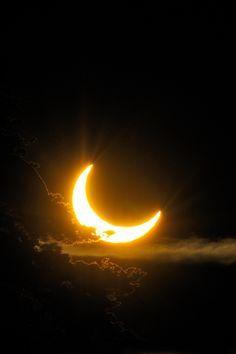 Astronomy & Astrophysics — Solar Eclipse of 2011 by: Tomas Johansson Shoot The Moon, Sun Moon Stars, Moon Moon, Moon Pictures, Moon Pics, Nature Pictures, Beautiful Pictures, Moon Magic, Beautiful Moon