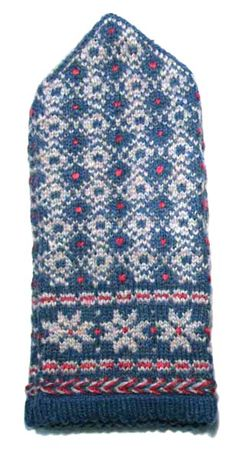 Latvian knitted mittens. Traditional pattern from Latgale region. #Latvia