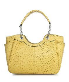 Look at this #zulilyfind! Mustard Ostrich Embossed Ostrich Embossed Nicole Shoulder Bag by emilie m. #zulilyfinds