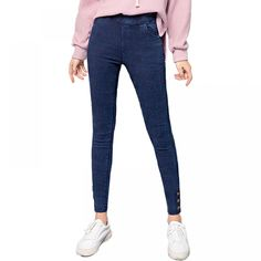 Women's Denim Leggings for Sport Jeggings, Denim Leggings, Fashion Pants, Girl Fashion, Ankle Length Pants, Yoga Wear, Gym Girls, Sport Wear, Yoga Pants