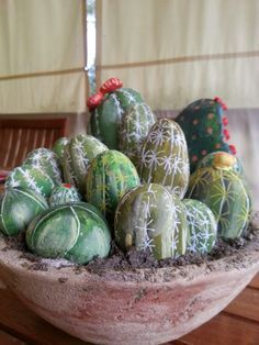 cactus on Pinterest | Painted Rock Cactus, Rock Art and Rock Cactus