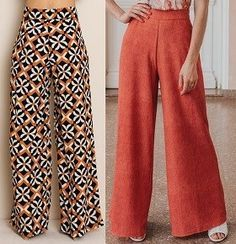 Wide pants pattern with elastic waist – Women's Style Costura Fashion, Elastic Jeans, Dress Sewing Patterns, Pants Pattern, Fashion Sewing, Black Bikini, Pants Outfit, Black Denim, Wide Leg Pants