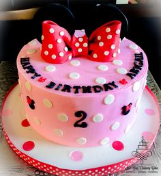 simple minnie mouse inspired cake - Cake by Not Your Ordinary Cakes.  www.facebook.com/nyocakes