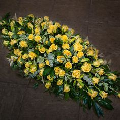 yellow rose coffin spray - Google Search