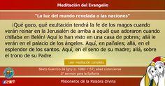 """MISIONEROS DE LA PALABRA DIVINA: MEDITACIÓN DEL EVANGELIO - """"La luz del mundo revel..."""