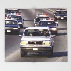 OJ Simpson Car Chase Throw Blanket
