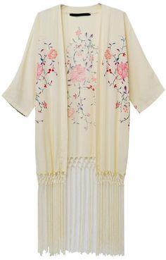 Shop Apricot Half Sleeve Floral Tassel Kimono online. Sheinside offers Apricot Half Sleeve Floral Tassel Kimono & more to fit your fashionable needs. Free Shipping Worldwide!
