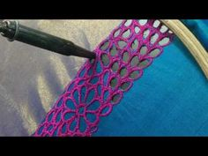 Cut Work Embroidery for a Bridal Blouse - Time lapse video - YouTube