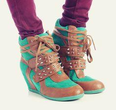 Spiked Wedge Sneakers