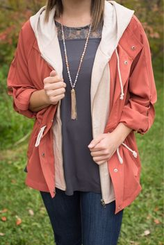 Fall fashion loves to layer! 😍 #xoxoAL4You #falllayers #ootd #shoplocal #montanastyle Pumpkin Patch Jacket $69 Beaded Pastel Tassel Necklace $29 Order today with the link below or by calling (406)721-2280! http://form.jotform.us/form/52044697810154