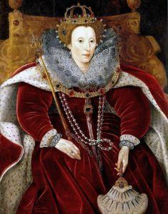 Portrait de la reine Elisabeth I dans sa robe du Parlement, 1585-90 anciennement attribué à Marcus Gheeraerts le jeune