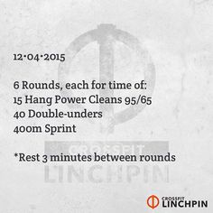 Post times to comments. Scale as needed. #BrutallyElegant #CrossFitLinchpin #CrossFit