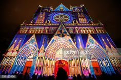 Notre Dame De Fourviere Illuminated During The Light Festival ...