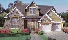 Cottage with Stone and Shakes - 16815WG | 1st Floor Master Suite, Bonus Room, Butler Walk-in Pantry, CAD Available, Cottage, Den-Office-Library-Study, European, Media-Game-Home Theater, PDF, Photo Gallery, Traditional | Architectural Designs